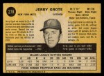 1971 O-Pee-Chee #278  Jerry Grote  Back Thumbnail