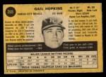 1971 O-Pee-Chee #269  Gail Hopkins  Back Thumbnail