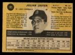 1971 O-Pee-Chee #185  Julian Javier  Back Thumbnail