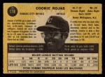 1971 O-Pee-Chee #118  Cookie Rojas  Back Thumbnail