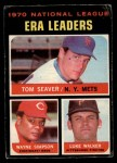 1971 O-Pee-Chee #68   -  Tom Seaver / Wayne Simpson / Luke Walker NL ERA Leaders   Front Thumbnail