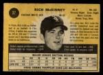 1971 O-Pee-Chee #37  Rich McKinney  Back Thumbnail