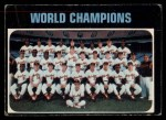 1971 O-Pee-Chee #1   World Champions - Orioles Team Front Thumbnail