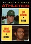 1971 O-Pee-Chee #317   -  Jim Driscoll / Angel Mangual Athletics Rookies Front Thumbnail