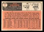 1966 Topps #564  Bob Chance  Back Thumbnail
