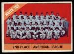1966 Topps #426   White Sox Team Front Thumbnail