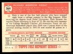 1952 Topps REPRINT #369  Dick Groat  Back Thumbnail