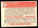 1952 Topps REPRINT #314  Roy Campanella  Back Thumbnail