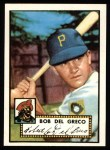 1952 Topps Reprints #353  Bobby Del Greco  Front Thumbnail