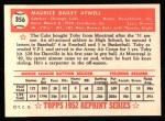 1952 Topps Reprints #356  Toby Atwell  Back Thumbnail