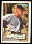 1952 Topps REPRINT #373  Jim Turner  Front Thumbnail