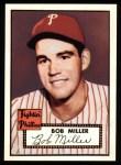 1952 Topps REPRINT #187  Bob Miller  Front Thumbnail