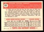 1952 Topps REPRINT #343  Dick Gernert  Back Thumbnail
