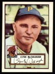 1952 Topps REPRINT #218  Clyde McCullough  Front Thumbnail
