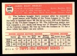1952 Topps REPRINT #399  Jim Fridley  Back Thumbnail