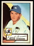 1952 Topps Reprints #155  Frank Overmire  Front Thumbnail