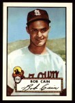 1952 Topps REPRINT #349  Bob Cain  Front Thumbnail