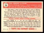 1952 Topps REPRINT #166  Paul LaPalme  Back Thumbnail