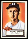 1952 Topps REPRINT #136  Johnny Schmitz  Front Thumbnail