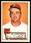 1952 Topps REPRINT #108  Jim Konstanty  Front Thumbnail