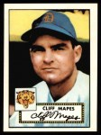 1952 Topps REPRINT #103  Cliff Mapes  Front Thumbnail
