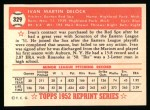 1952 Topps REPRINT #329  Ike Delock  Back Thumbnail