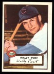 1952 Topps REPRINT #151  Wally Post  Front Thumbnail