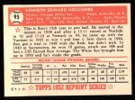 1952 Topps REPRINT #95  Ken Holcombe  Back Thumbnail