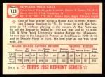 1952 Topps Reprints #123  Eddie Yost  Back Thumbnail