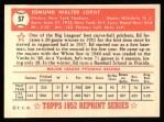 1952 Topps REPRINT #57  Eddie Lopat  Back Thumbnail