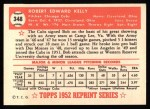 1952 Topps REPRINT #348  Robert Kelly  Back Thumbnail