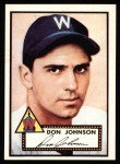 1952 Topps REPRINT #190  Don Johnson  Front Thumbnail