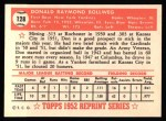 1952 Topps REPRINT #128  Don Bollweg  Back Thumbnail