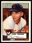1952 Topps REPRINT #127  Paul Minner  Front Thumbnail