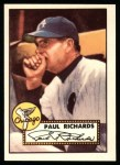 1952 Topps REPRINT #305  Paul Richards  Front Thumbnail