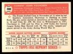 1952 Topps Reprints #380  Clem Koshorek  Back Thumbnail