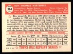1952 Topps REPRINT #264  Roy Hartsfield  Back Thumbnail
