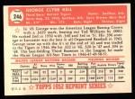 1952 Topps REPRINT #246  George Kell  Back Thumbnail