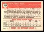 1952 Topps REPRINT #298  Bob Ross  Back Thumbnail