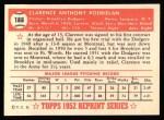 1952 Topps Reprints #188  Clarence Podbielan  Back Thumbnail