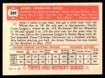 1952 Topps REPRINT #309  Jim Busby  Back Thumbnail