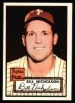 1952 Topps REPRINT #185  Bill Nicholson  Front Thumbnail