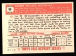 1952 Topps REPRINT #99  Gene Woodling  Back Thumbnail