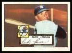 1952 Topps REPRINT #122  Jackie Jensen  Front Thumbnail