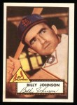 1952 Topps REPRINT #83  Billy Johnson  Front Thumbnail