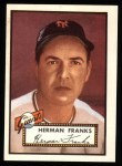 1952 Topps REPRINT #385  Herman Franks  Front Thumbnail