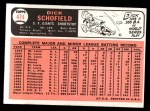 1966 Topps #474  Dick Schofield  Back Thumbnail