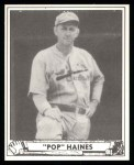 1940 Play Ball Reprint #227  Jesse Haines  Front Thumbnail