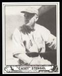 1940 Play Ball Reprint #141  Casey Stengel  Front Thumbnail