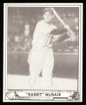 1940 Play Ball Reprint #14  Rabbit McNair  Front Thumbnail